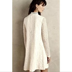 HD in Paris Ivory Mixed Lace Swing Dress